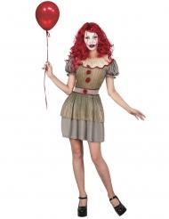 Psychopathische clown kostuum voor vrouwen