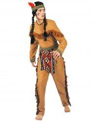 Bruin authentiek indiaan kostuum voor mannen