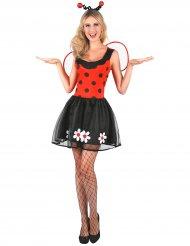 Zwart en rood zomers lieveheersbeestje kostuum voor vrouwen
