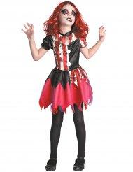 Bloederig rood en zwart clown kostuum voor meisjes
