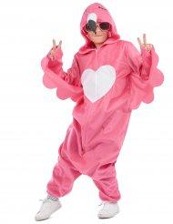 Roze flamingo outfit met capuchon voor kinderen