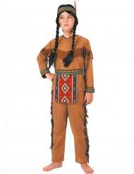 Bruin indianen pak met hoofdband voor jongens