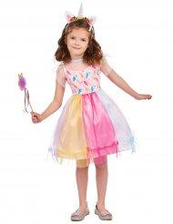 Veelkleurige magische eenhoorn outfit voor meisjes