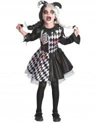 Zwart en wit bloederig harlekijn kostuum voor meisjes