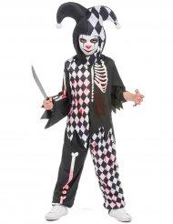 Duistere bloederige harlekijn outfit voor jongens