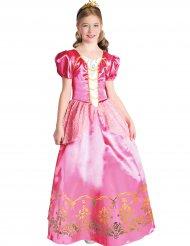 Elegante roze en goudkleurige prinses outfit voor meisjes