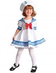 Wit en blauw matroos kostuum voor meisjes