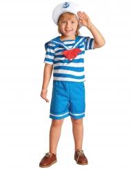Blauw en wit gestreept matrozenpak voor jongens