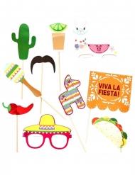 Mexicaanse fiesta photobooth set met 10 accessoires