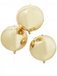 Enorme ronde metallic goudkleurige ballon