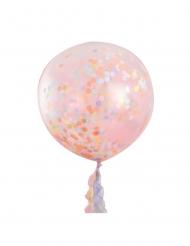 3 enorme doorzichtige pastelkleurige confetti ballonnen