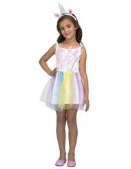 Eenhoorn regenboog jurk voor meisjes