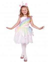 Kleurrijke regenboog eenhoorn outfit voor meisjes