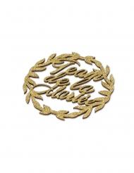 Goudkleurige glitter vrijgezellenfeest kransen van hout