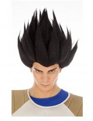 Zwarte Dragon Ball™ Vegeta Saiyan pruik voor volwassenen