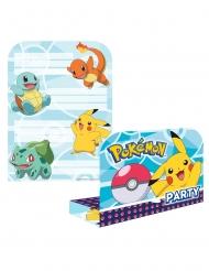 8 Pokémon uitnodigingen en enveloppen