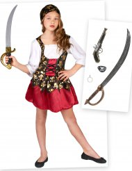 Piraat kostuum pack met accessoires voor meisjes