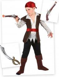 Piraat kostuum pack met zwaard en pistool voor kinderen