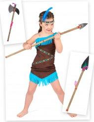 Indiaan kostuum pack met speer en bijl voor kinderen