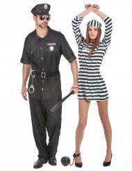 Gevangene en politie koppelkostuum voor volwassenen