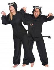 Zwarte panter koppelkostuum voor volwassenen
