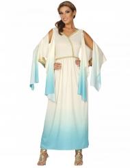 Wit en blauw Grieks godin kostuum voor vrouwen