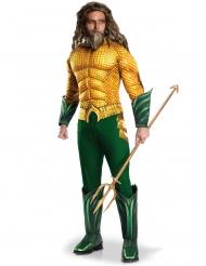 Groen en geel Aquaman™ kostuum voor volwassenen