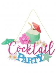 Houten cocktail decoratie met koord