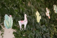 Peruaanse lama papieren slinger