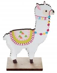 Lama decoratie op houten voet
