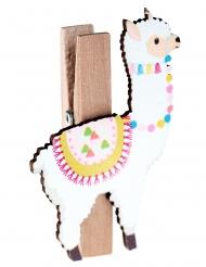 4 houten lama wasknijpers
