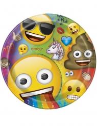 8 kartonnen Emoji Rainbow™ borden