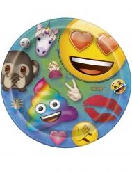 8 kleine kartonnen Emoji Rainbow™ borden