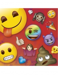 16 papieren Emoji Rainbow™ servetten