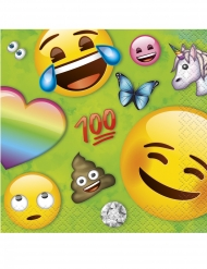 16 kleine papieren Emoji Rainbow™ servetten