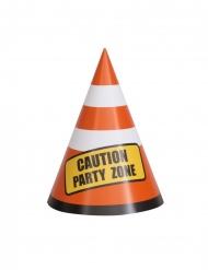8 kartonnen Caution Party Zone tafeldecoraties