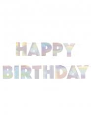 Kartonnen regenboogkleurige Happy Birthday slinger