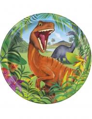 8 kartonnen dinosaurus borden
