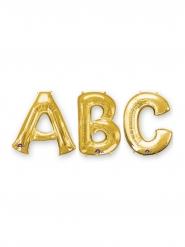 Goudkleurige aluminium letter ballon