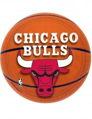 8 kleine kartonnen Chicago Bulls™ borden