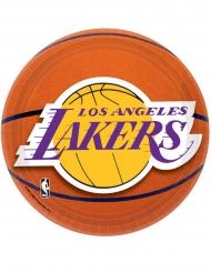 8 kleine kartonnen Lakers™ borden