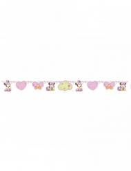 Roze kartonnen baby Minnie™ slinger