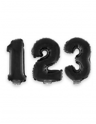 Zwarte aluminium cijfer ballon