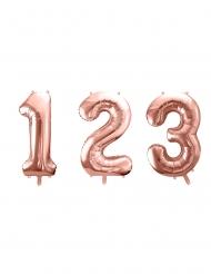 Rosé gouden aluminium cijfer ballon