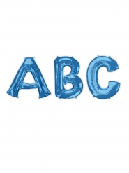 Blauwe aluminium letter ballon