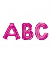 Fuchsia aluminium letter ballon