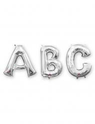 Grote zilverkleurige aluminium letter ballon