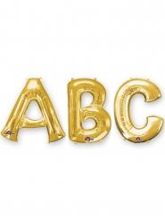 Goudkleurige grote aluminium letter ballon
