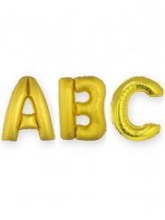 Enorme goudkleurige aluminium letter ballon