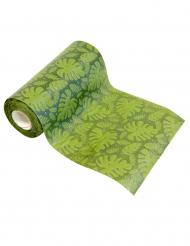 Groene tropische bladeren tafelloper
